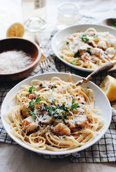 Lobster Linguine / Bev Cooks