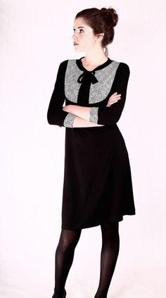 Knielange Kleider - NARA®  Blusenkleid mit Schleife Gr 34-52 - ein Designerstück von Berlinerfashion bei DaWanda