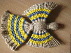Делаем подвеску «Птицы счастья» из джутового шпагата и разноцветных нитей - Ярмарка Мастеров - ручная работа, handmade