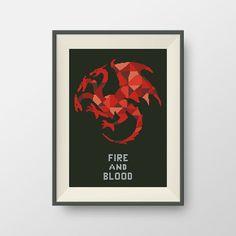 House Targaryen. Game of Thrones cross stitch pattern, PDF counted cross stitch pattern, P149 by NataliNeedlework on Etsy