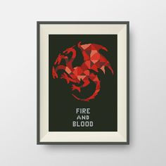 House Targaryen. Game of Thrones cross stitch pattern, PDF counted cross stitch pattern, P149 by NataliNeedlework on Etsy