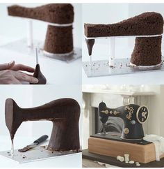 Vintage Sewing Machine Cake Structure