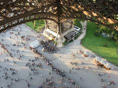 Eiffel Tower. Incredible angle.