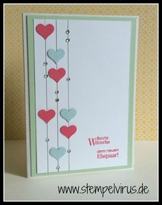 Stampin Up Wedding Perfect couple heart punch pistachio sky blue Stampin Up Wedding Perfect Couple Heart Punch Pistachio Sky Blue, blue STEP-BY. Handmade Birthday Cards, Greeting Cards Handmade, Love Cards, Diy Cards, Valentine Day Cards, Holiday Cards, Creative Cards, Anniversary Cards, Scrapbook Cards