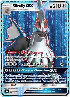 Silvally is one of my favorite pokemon introduced in the generation and has a really awesome backstory. I went through a few GX attacks like oblivion blade and nullifying slash but my friend ma.