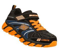 Skechers Children's Shoes - S Lights: Pillar - Ignus in OrangeBlack