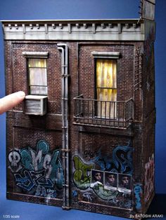American old apartment (1/35 scale ) By SATOSHI ARAKI