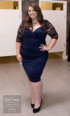 "No magic trick here; just fabulousness!  Real Curve Cutie Jennifer (5'6"") looks…"