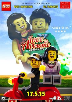 Lego Poster - Love is Awesome 1 #lego#poster#minifigure#photography#design