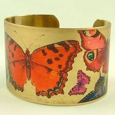 Butterfly+Brass+Cuff+Bracelet++Flamboyant+Flying+by+JezebelCharms,+$40.00