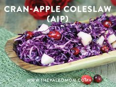 Cran-Apple Coleslaw (AIP)