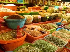 The baseis of all the mexican foods! Spices and Moles galore