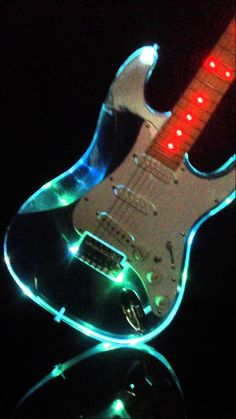 Acrylic Clear Fender Strat ST Electric Guitar Crystal see through Guitar Fender, Fender Electric Guitar, Custom Electric Guitars, Stratocaster Guitar, Guitar Art, Custom Guitars, Cool Guitar, Electric Drum Set, Electric Music