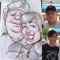 Another #caricature from #oldfashioneddays #artfair in #fruitport #michigan