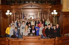 Students from Epiphany School visiting the Capitol during the 2013 Fall Veto Session.