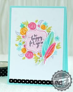 So Happy For You Card by Betsy Veldman for Papertrey Ink (July 2014)