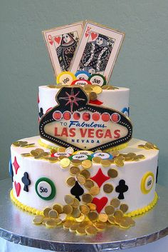 Las Vegas Birthday Cake by Graceful Cake Creations, via Flickr