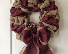 Deco Mesh Wreaths, Holiday Wreaths, Door Wreaths, Christmas Decorations, Burlap Wreaths, Burlap Christmas, Christmas Trees, Ribbon Wreaths, Xmas