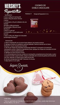 Hershey's® Repostería tiene las mejores recetas para ti. #Hersheys #Chocolate…