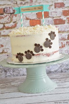 Curly Girl Kitchen: Red Velvet Cake with Cream Cheese and Toasted Coconut (and Chocolate Paw Prints for the dog lover in you!)