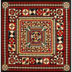 """SOLDIER'S QUILT/ Artist, probably Canada, Great Britain, or United States, 1854–1890, wool melton, 67 × 66 1/2"""", collection American Folk Art Museum, gift of Altria Group, Inc., 2008.9.1. Photo credit: Gavin Ashworth."""