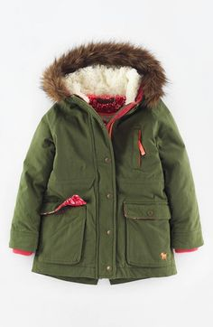 Mini Boden Hooded Parka (Toddler Girls, Little Girls & Big Girls) available at #Nordstrom