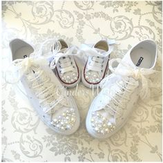 How To Lace Converse Wedding Groom Bridesmaids Bride Shoes Special Occasion Crime Mariage