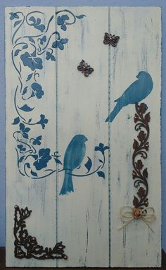 Best Ideas For Wall Stencil Ideas Pallet Wood Stencil Wall Art, Wood Wall Art, Stencils, Abstract Canvas, Canvas Art, Bull Painting, Wood Pallets, Pallet Wood, Barn Wood Crafts