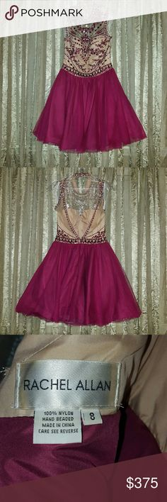 Short Prom dress Worn once. Beautiful Cranberry color. Dresses Prom