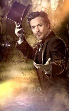 Robert Downey Jr as Sherlock Holmes ---- My panties would drop so freaking fast.