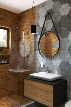 Bathroom Inspiration : Beton Design Ideas The Definitive Source for Interior Designers Beton Design, Tile Design, Bad Inspiration, Bathroom Inspiration, Wooden Bathroom, Small Bathroom, Bathroom Ideas, Cheap Bathrooms, Tile Bathrooms