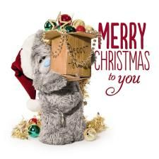 3D Holographic Box Of Decorations Me to You Bear Christmas Card