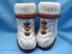 P A T T E R N Baby Booties Baby Shoes Pattern por Solnishko43