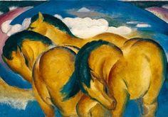 Die kleinen gelben Pferde  by Franz Marc Franz Marc, Wassily Kandinsky, Oil On Canvas, Canvas Art, Big Canvas, Blue Rider, Horse Posters, Painting Prints, Art Prints