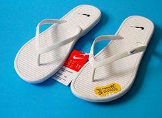 Nike Solarsoft Thong II Sandals 11 White Black New Flip Flops Womens #Nike #FlipFlops