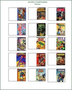 miniature printable comic books for dollhouses - Craft ~ Your ~ Home