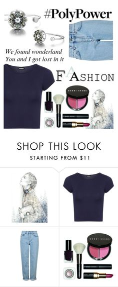 """""""#PolyWorld"""" by juromi ❤ liked on Polyvore featuring WearAll, Topshop and Bobbi Brown Cosmetics"""