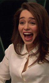 Emilia Clarke intense laugh