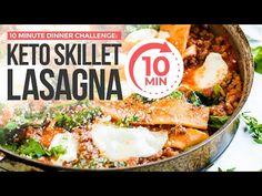 EASY KETO DINNER IN UNDER 10 MINUTES! Keto Skillet Lasagna - YouTube Ketogenic Recipes, Keto Recipes, Free Recipes, Skillet Lasagna, Low Carb Lasagna, Gluten Free Noodles, Keto Diet For Beginners, Eating Plans, Keto Dinner