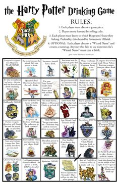 The Harry Potter Drinking Game.  OMG OMG OMG! I need play this ASAP lol!