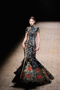 global-fashions: Zhang Zhifeng - 2015 NE-TIGER Haute Couture, Mercedes-Benz China Fashion Week S/S 2015 This collection is on another level Fashion Guys, China Fashion, Fashion Week, Look Fashion, Runway Fashion, Fashion Design, Fashion 2015, Style Couture, Haute Couture Fashion