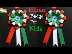 YouTub Indain badge ideas/Badge for independence day and rebilic day/Making bagde for kids