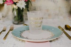 Wedding Cups Custom Monogrammed Cups Elegant Wedding Monogram Gold Foil Monogram Wedding Favors Frosted Cup Frosted Wedding Cups 1496 by SipHipHooray