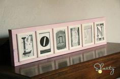 DIY Photo Letters + Free Printables · DIY Weddings   CraftGossip.com