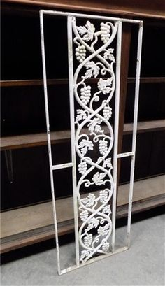 Cast Iron Decorative Panel Vintage