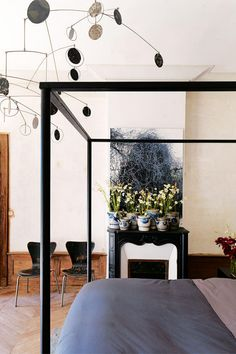 Claire Basler's French Chateau bedroom
