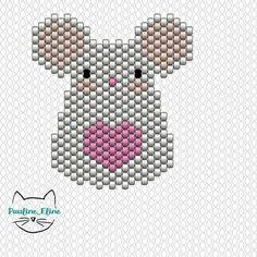 Merci pour vos gentils commentaires sur ma souris rose ! J'ai utilisé le rose DB1841 de chez @perlesandco pour le coeur. Bon week end! #jenfiledesperlesetjassume #miyukibeads #miyuki #perle #perleaddict #souris #mouse #diagrammeperles #beadpattern #motifpauline_eline #brickstitch