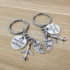 Your place to buy and sell all things handmade : partners in crime keychain,no matter the distance, no matter what no matter where,going away gift fo Bf Gifts, Diy Gifts For Him, Diy Gifts For Boyfriend, Love Gifts, Couple Gifts, Cute Birthday Gift, 16th Birthday Gifts, Friend Birthday Gifts, Best Friend Gifts