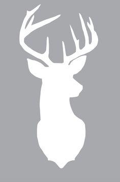Free large deer silhouette