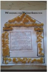 Temple Pasta Art- Great for Bible Lesson or Craft; Jesus in the temple; Sunday School; Church
